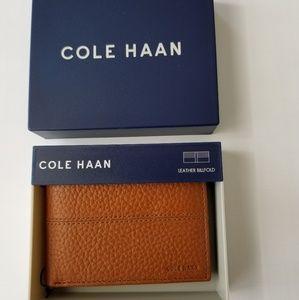 COLE HAAN Cognac Bi-fold Wallet